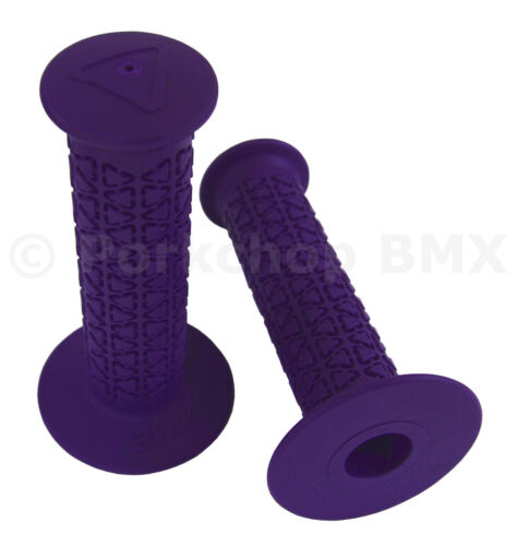 PURPLE *MADE IN USA* AME old school BMX ROUNDS bicycle grips