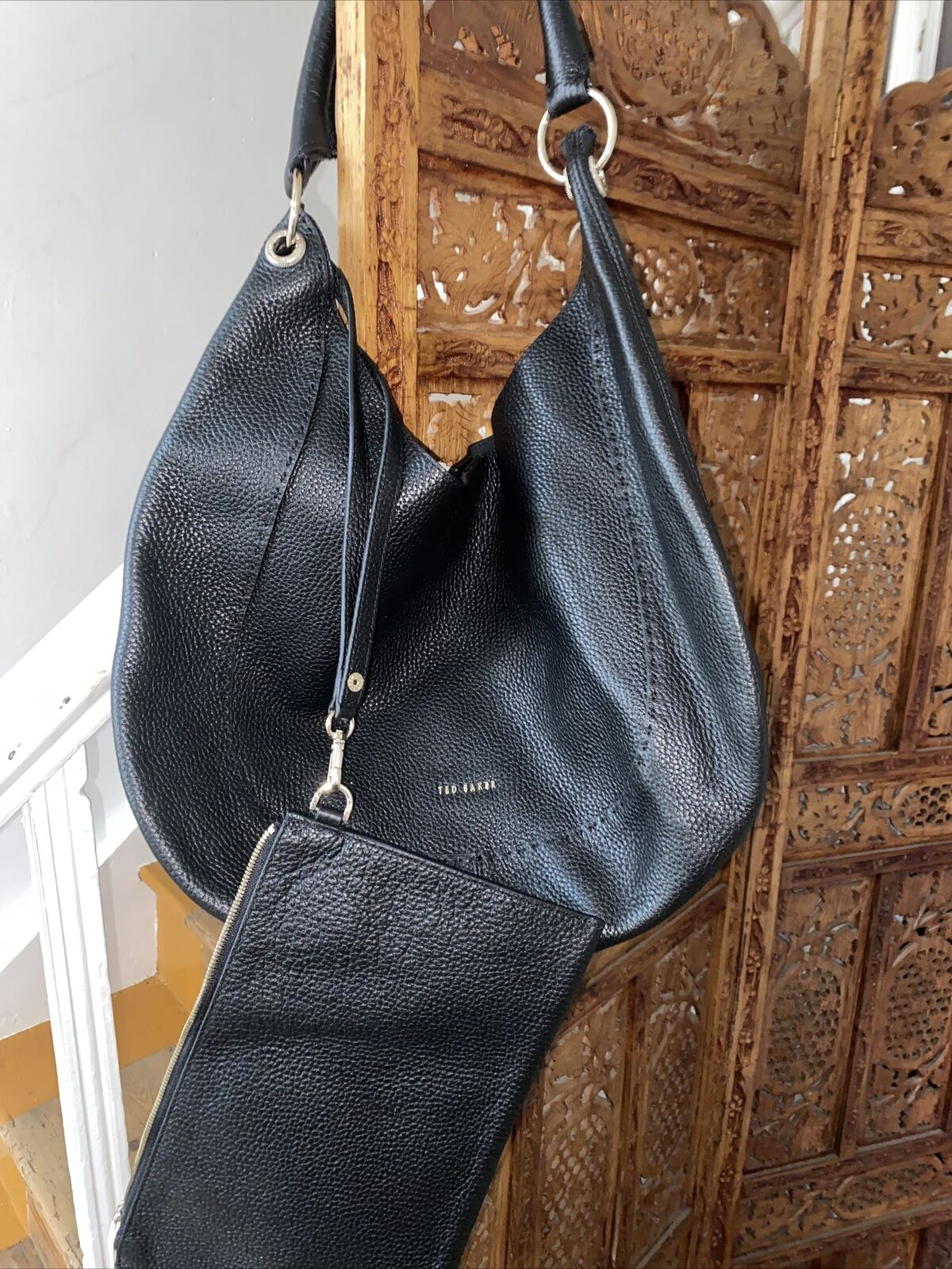 Ted Baker Black Leather Shoulder Bag New With Tags