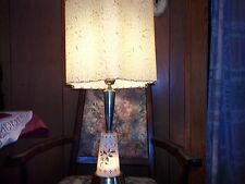 vintage retro mid century 1950's lamp fiber glass shade original apx.13x13 lamp