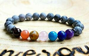 Men-Womens-7-Chakra-Balancing-Energy-Healing-Power-Bead-Natural-Stone-Bracelet