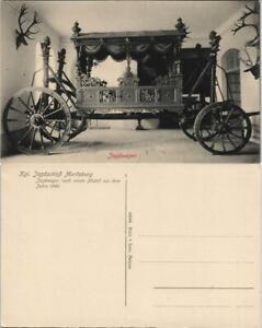 Ansichtskarte Moritzburg Kgl. Jagdschloss - Kutsche 1912