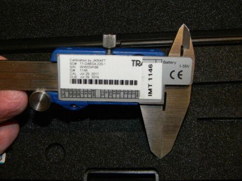 """Wilson Wolpert 150mm Calibrated 7 2017 110-15DBL Case 6/"""" Digitronic Caliper"""