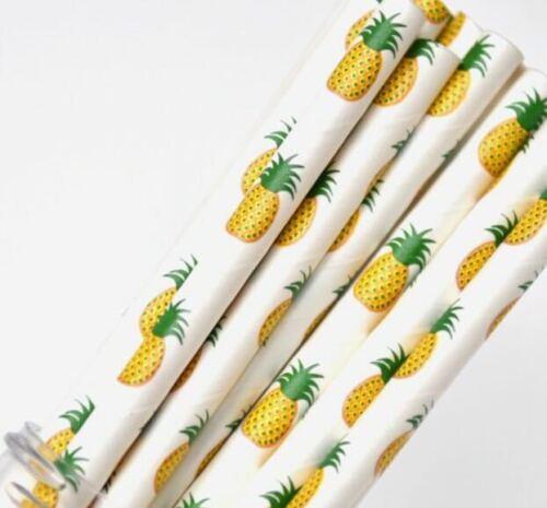 Cheap Paper Straws Pineapple Paper Drinking Straws Birthday 25 50 100