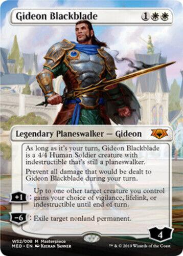 English -BFG- MTG M Foil Gideon Blackblade 1x Mythic Edition Near Mint x1