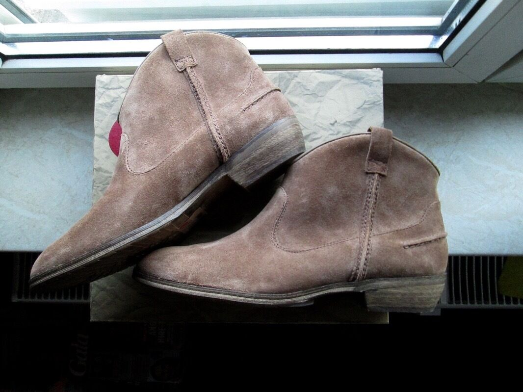 EDC BY VELOURS ESPRIT DAMEN BOOTS STIEFELETTE VELOURS BY ECHTLEDER BROWN BRAUN 42 NEU 675bd9
