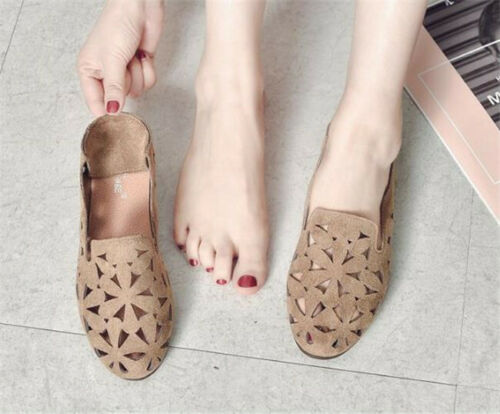 Details about  /Women Breathable Cut-Out Flats Soft Summer Round Toes Casual Flat Slip Shoes
