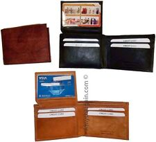 3 New style leather man's wallets 2 suede lined billfolds Credit card ID spaces