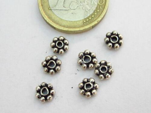20 rosette in argentone tibetano  da 5 x 1,5 mm  ll