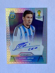 Panini Prizm World Cup 2014 Lionel Messi autograph auto refractor 11/25