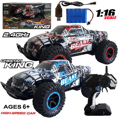 1/16 Rc Rock Crawler 2.4gh Radio Remote Control 4wd Off-road Buggy Drift Car Toy Radio Control & Control Line Other Rc Model Vehicles & Kits