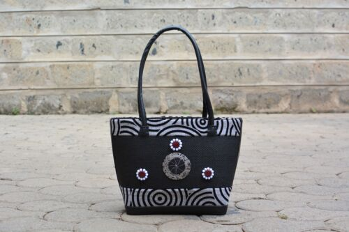 White Handmade African African And PurseBlack SzqVGMpU