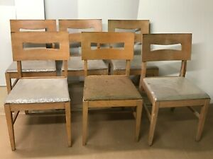 Vintage Stanley Furniture Co Mid Century Modern Chairs Set Of Six