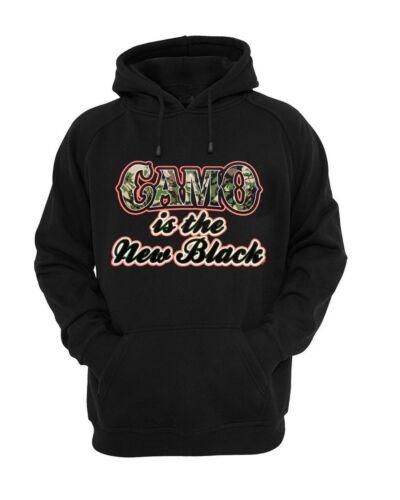 Women Black Hoodie Girls Hunt Too Happy Hunting Camo The New Black Sweatshirt