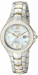 Seiko-Women-039-s-039-COUTURA-039-Quartz-Stainless-Steel-Casual-Watch-SUT240