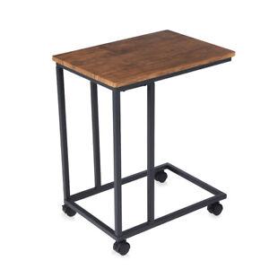 Détails sur Table Basse Table d'Appoint 2 Roulettes Différentes Design  Vintage Salon Makika