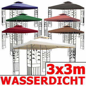 wasserdicht pavillon toskana 3x3m wasserfest metall festzelt dach zelt garten ebay. Black Bedroom Furniture Sets. Home Design Ideas