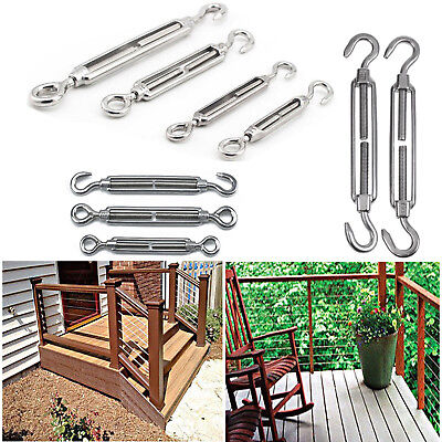 Details about  /Stainless Wire Rope HOOK EYE Turnbuckle Marine 316 Boat Shade Sail Accessories