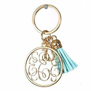 Details about Initial Jewelry Monogrammed Alphabet Letter Keychain Key Ring  Bag Charm Tassel
