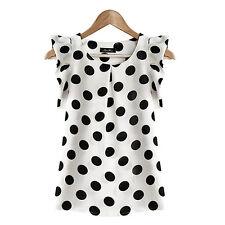 Women's Casual Chiffon Blouse Short Sleeve Shirt T-shirt Summer Tops Fashion New