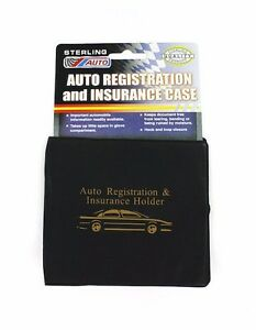 Auto Car Registration Insurance Holder Wallet