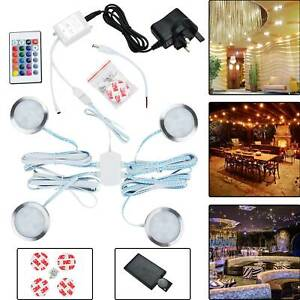 LED-Spotlight-Under-Cupboard-Cabinet-Lights-Kit-Round-Remote-Control-Light-12V