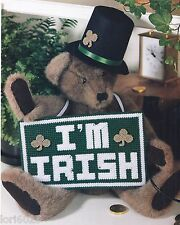 **I'M IRISH SIGN TO STITCH PATTERN ONLY**PLASTIC CANVAS PATTERN**