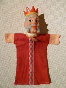 100% Vrai Vintage Rare Marionnette à Main-punch & Judy-king-afficher Le Titre D'origine êTre Nouveau Dans La Conception