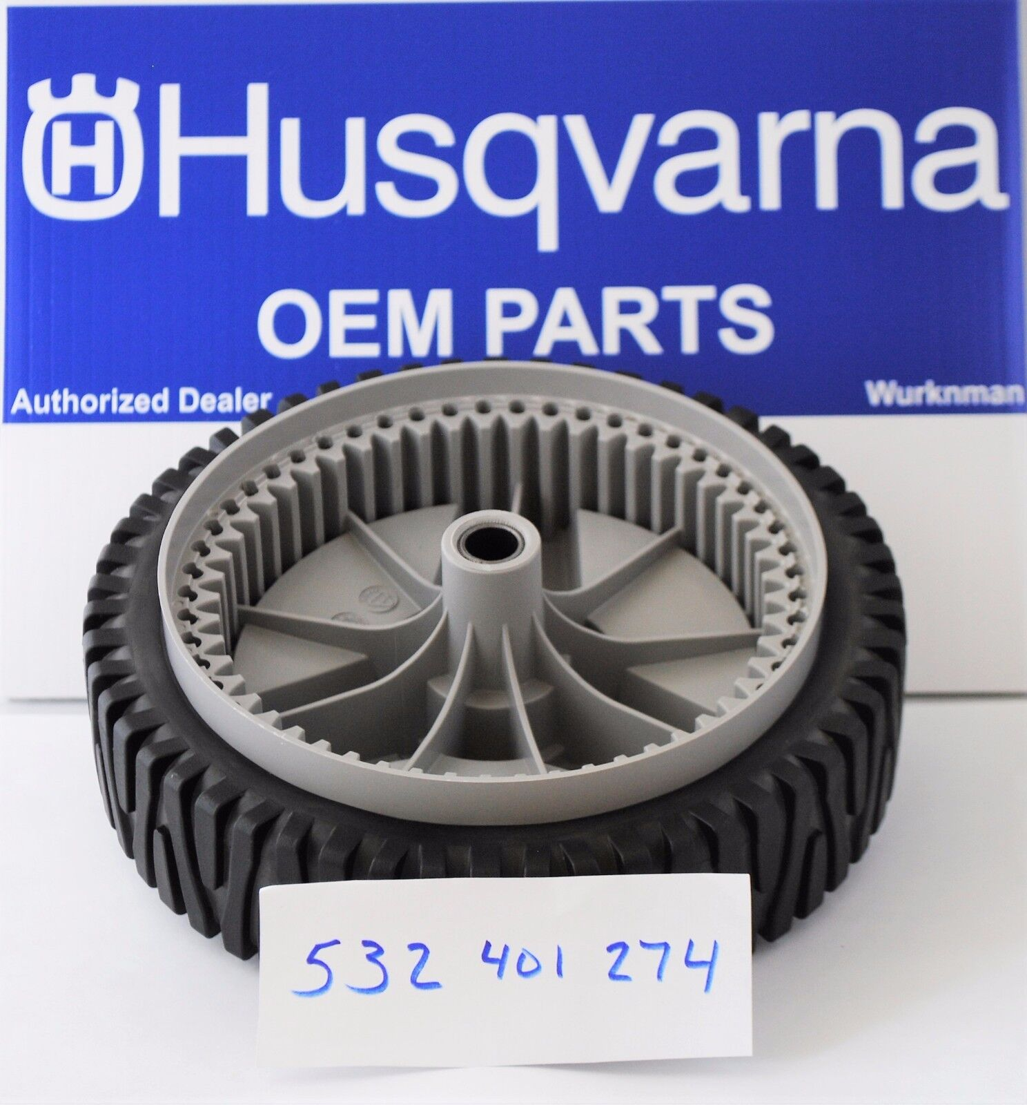 2 Husqvarna OEM 532401274 Wheels  Replaces 401274X460 and  401274 WHEELS