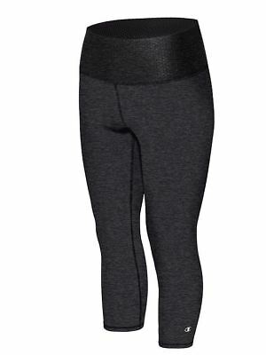 Champion Womens Absolute Capris With SmoothTec Band HEATHER Yoga Cross Training