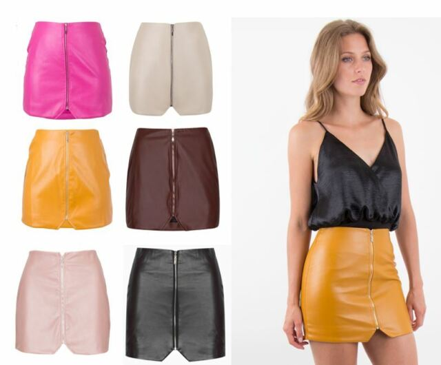 Clever New Look Pink Leather Look Skirt Low Price Skirts Clothing, Shoes & Accessories