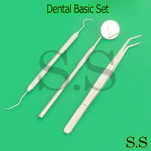 Dental Tartar Calculus Plaque Remover, Tooth Scraper, Dental Mirror Scaler Set 3
