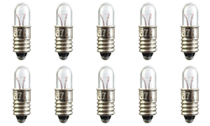 Box of 10 #399 Miniature Bulbs Auto Truck Aircraft 28 Volt 1.12 Watt E5 base