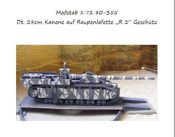MGM 080-355+080-356 1 72 Resin WWII German 28cm Cannon+Caterpillar  R2  redary