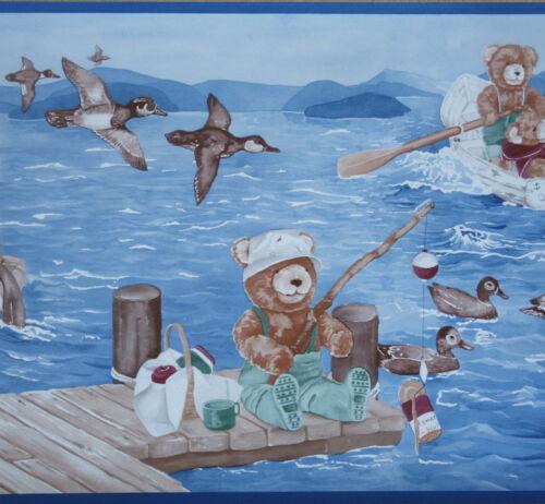 """Bordüre AS 8429-16 /""""Teddys Ocean/"""" 5m Borte XL Tapetenborte 26 cm breit"""