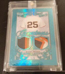 Barry Bonds 2020 Leaf Superlative Sports Greatness Memorabilia Dual Patch 3/9