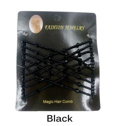 Double Magic Slide Metall Elastic einfügen Clip Haarnadeln Bead dehnbar DE