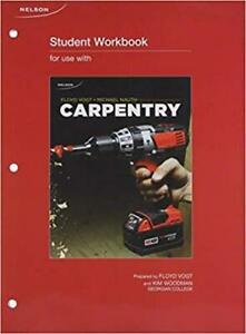 Student Workbook for Carpentry 2nd Canadian Edition Canada Preview
