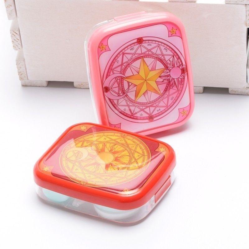 1PC Anime Cardcaptor Sakura Contact Lens Cases Girls Card Pattern Box Cosplay