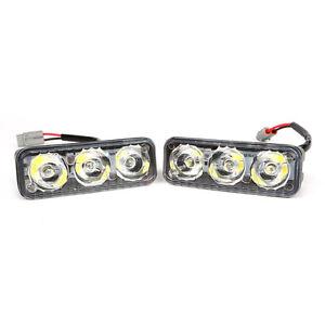 2x-3-LED-Car-Auto-LED-Tagfahrlicht-Blinker-Tagfahrleuchte-Lampe-Licht-DRL-Weiss