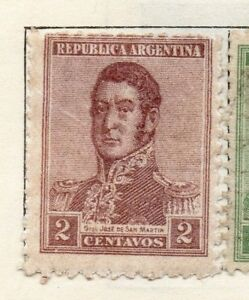 Stamps Obliging Argentine Republic 1917-22 Early Issue Fine Mint Hinged 2c 106760 Latin America