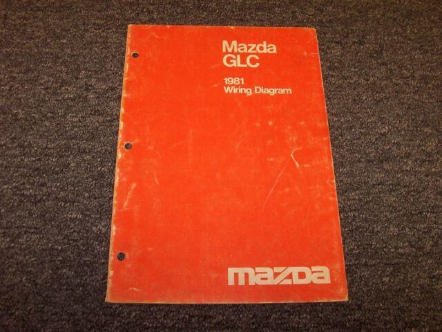 1981 Mazda Glc Sedan Factory Original Electrical Wiring