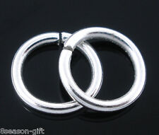 HX 300 PCs Silver Plated Open Jump Rings Findings 1.2x9mm