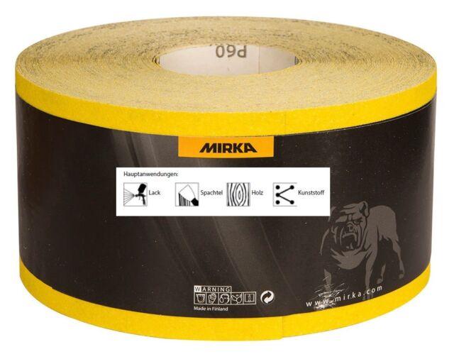 Mirka Schleifpapier Schleifrolle Mirox 115 mm x 50 m Körnung wählbar
