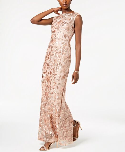 Adrianna Papell Sleeveless Sequin-Embellished Dress MSRP $269 Size 4 # 14B 237 N