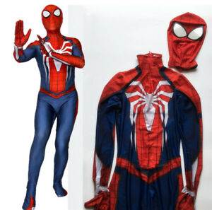 Details about HOT Game PS4 INSOMNIAC Spiderman Spidey Costume Suit  Halloween Cosplay Bodysuit