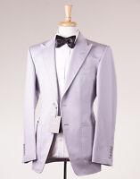 $5800 Tom Ford Lavender Superfine Cotton-linen Suit 38 R + Hanger (eu 48)