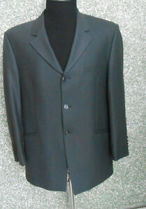 20-278H-2-Wilvorst-Mens-Designer-Jacket-Size-26-Grey-Green-Wool-Design-Single-Breasted-Jacket-Classy