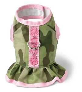 Green-amp-Pink-Camo-Dress-Jacket-Puppy-Dog-Harnesses-XXS-XS-amp-Small