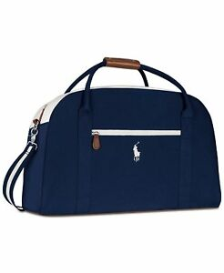 Image Is Loading Ralph Lauren Polo Navy Blue White Hand Duffle