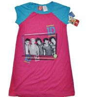 Sz 6x One Direction Pajama Gown Pink / Blue 1d Niall,harry,louis, Zyan Etc